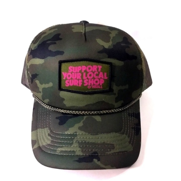 537565a33a8 O Neill Camo Trucker Hat Surfers Paradise